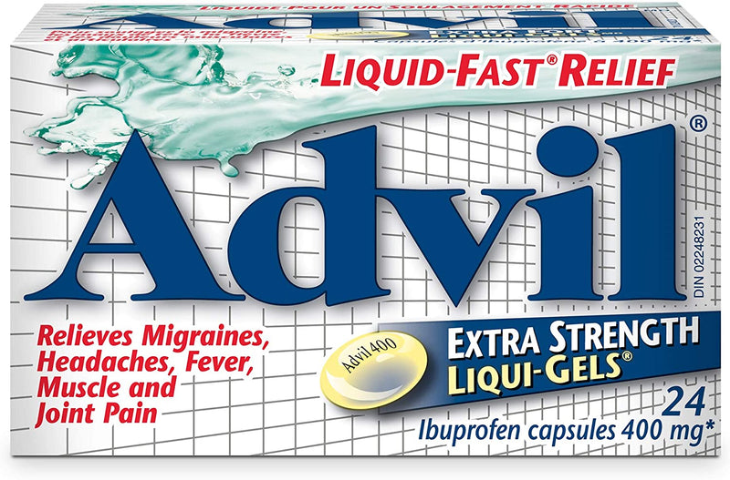 Advil LiquiGels Extra Strength 400mg 24s - Simpsons Pharmacy