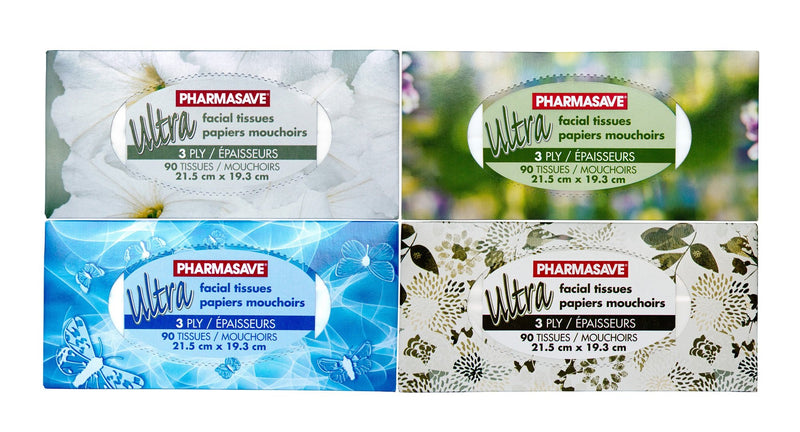 Pharmasave Facial Tissue 3 Ply Ultra 90 Sheets - Simpsons Pharmacy