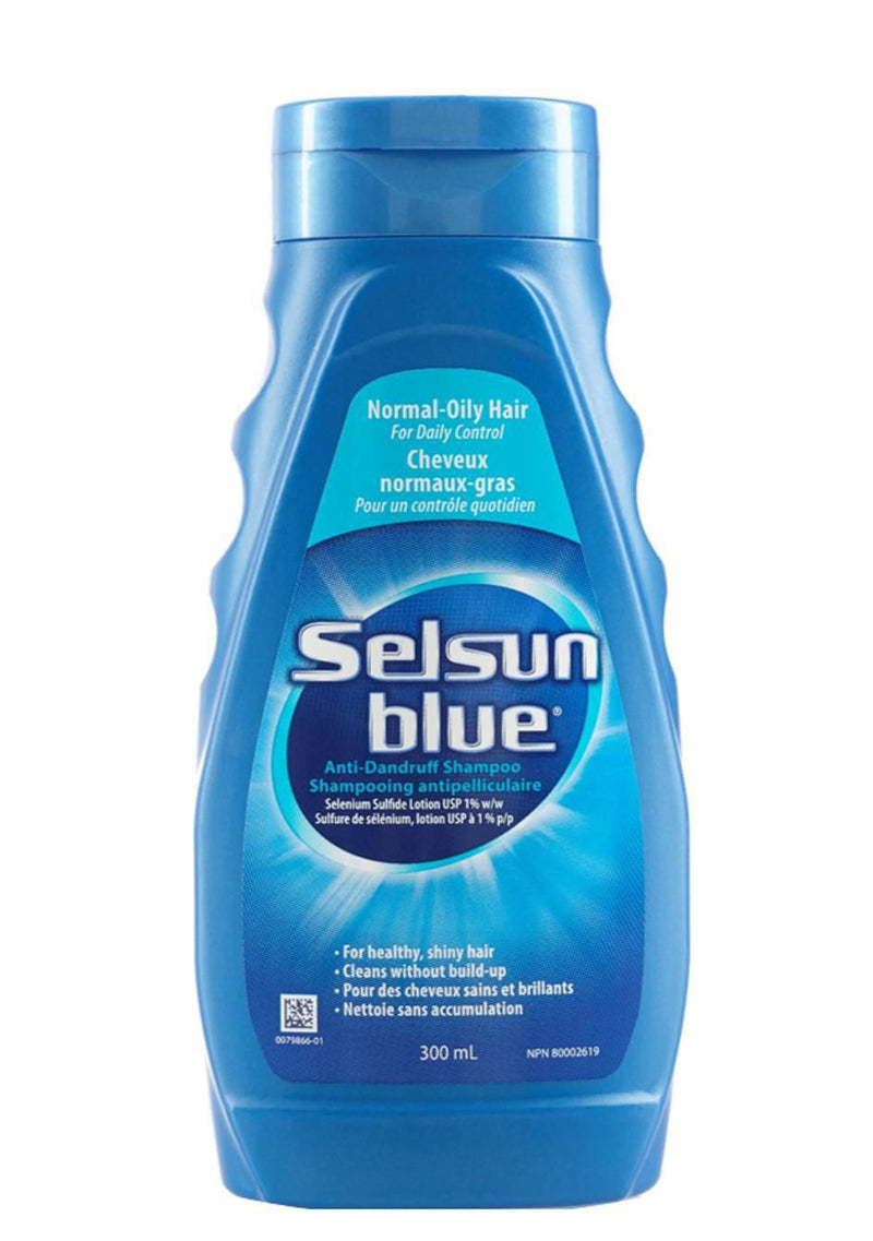 SELSUN BLUE SHAMPOO - NORMAL/OILY 300ML - Simpsons Pharmacy