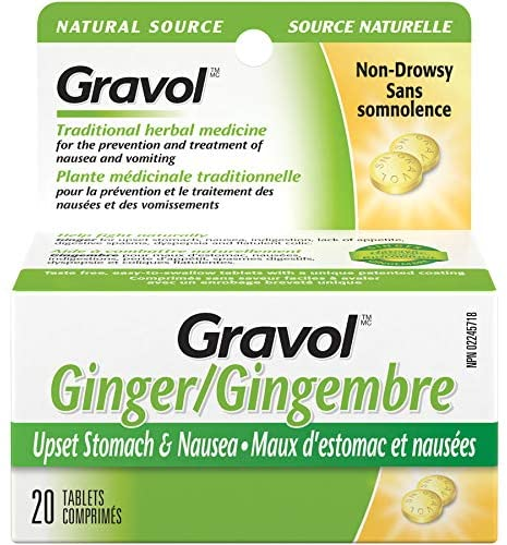 Gravol Natural Source Ginger - 20 Tablets - Simpsons Pharmacy