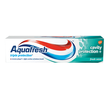 Aquafresh Triple Protection+ Cavity Protection Toothpaste - Fresh Mint 90mL - Simpsons Pharmacy