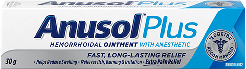 Anusol Plus Hemorrhoidal Ointment with Anesthetic - 30g - Simpsons Pharmacy