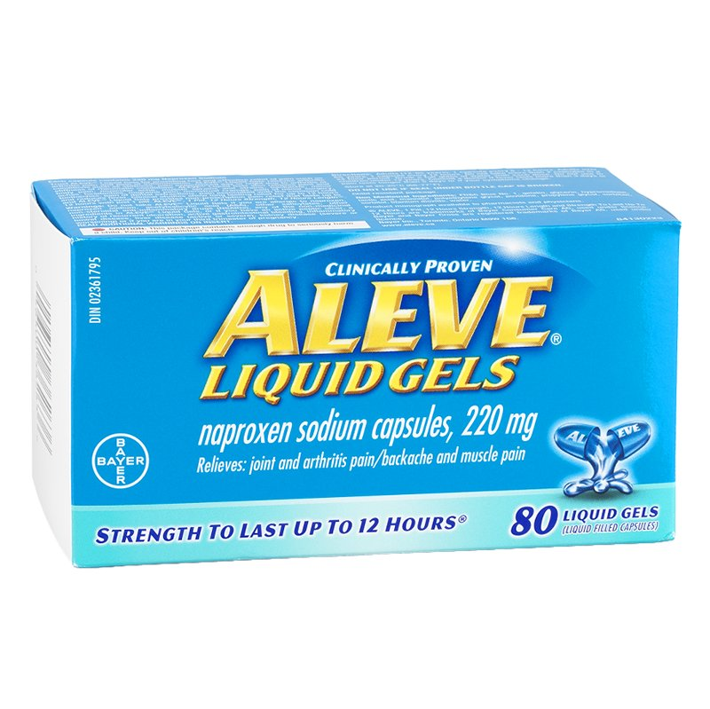 Aleve Naproxen Sodium Liquid Gels - 80 Capsules - Simpsons Pharmacy
