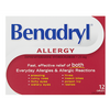 Benadryl Allergy Relief 25mg  - 12 Caplets - Simpsons Pharmacy
