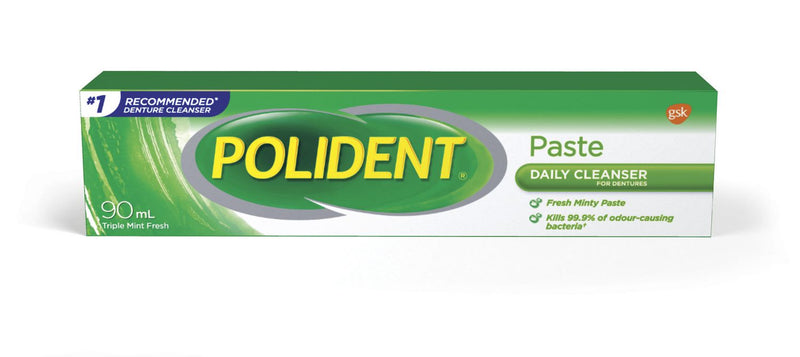 Polident Daily Cleanser for Dentures Paste - Triple Mint Fresh 90mL - Simpsons Pharmacy