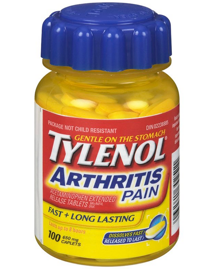 Tylenol Arthritis 650mg Pain Relief - 100 Caplets - Simpsons Pharmacy