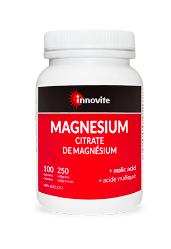 Innovite Magnesium Citrate plus malic acid 250 mg 200 capsules - Simpsons Pharmacy