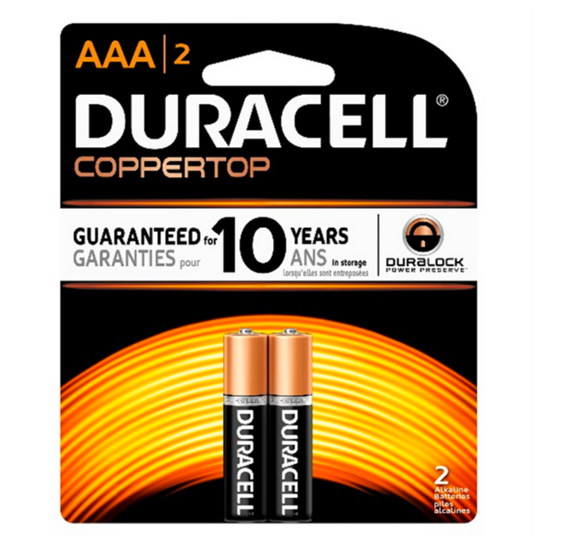 Duracell AAA Alkaline Batteries - Pack of 2 - Simpsons Pharmacy