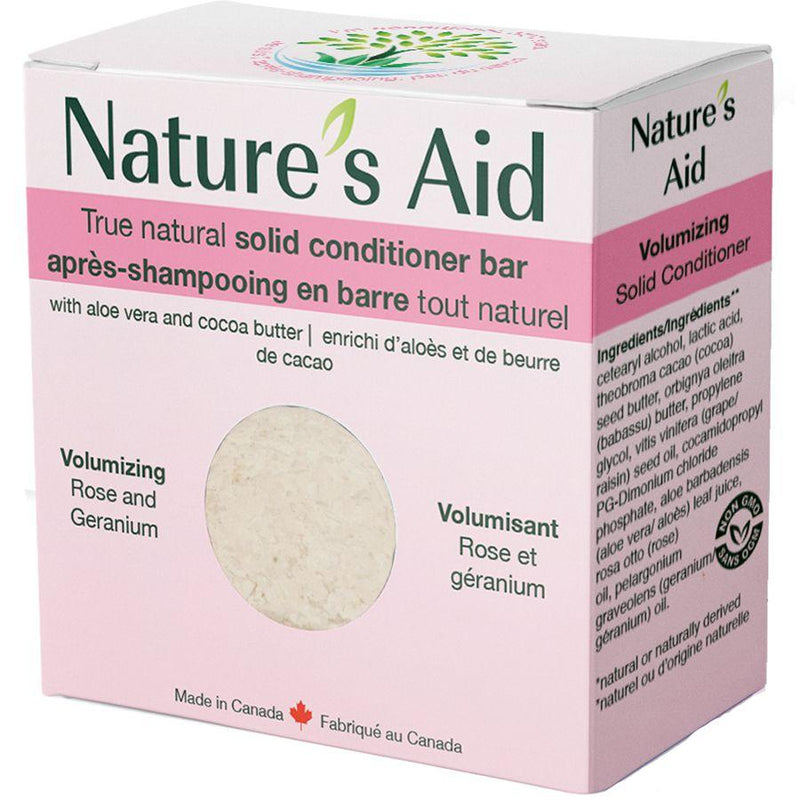 Nature's Aid Volumizing Solid Conditioner Bar with Rose & Geranium - Simpsons Pharmacy