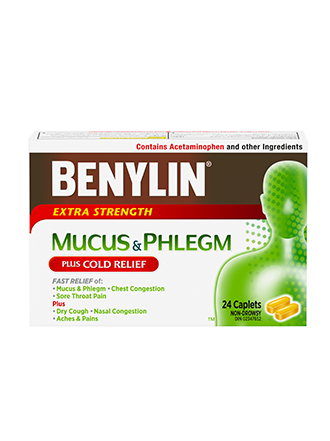 BENYLIN COLD MUCUS & PHLEGM RELIEF CAPLETS 24S - Simpsons Pharmacy