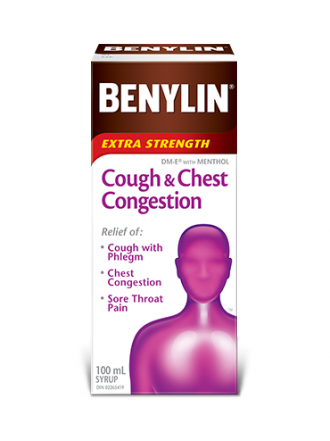 Benylin DM Extra Strength Cough & Congestion Syrup - 100mL - Simpsons Pharmacy