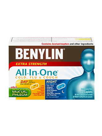 BENYLIN ALL IN ONE COLD & FLU DAY/NIGHT CAPLETS 12 + 12S - Simpsons Pharmacy