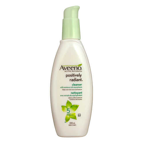 AVEENO POSITIVELY RADIANT CLEANSER 200ML - Simpsons Pharmacy