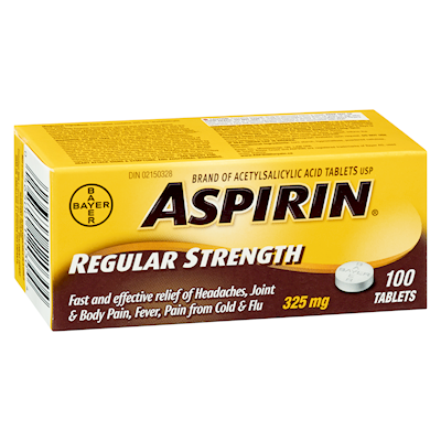 ASPIRIN A.S.A. TABLET 325MG 100S - Simpsons Pharmacy