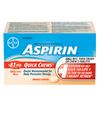ASPIRIN A.S.A. QUICK CHEWS TABLET 81MG 100S - Simpsons Pharmacy