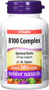 Webber Naturals B100 Complex Optimal Ratio Energy Support - 90 Capsules - Simpsons Pharmacy