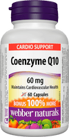 Webber Naturals Coenzyme Q10 60mg Cardio Support - 60 Softgel Capsules - Simpsons Pharmacy