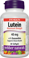 Webber Naturals Lutein Maximum Strength 40mg with Zeaxanthin - 60 Softgels - Simpsons Pharmacy