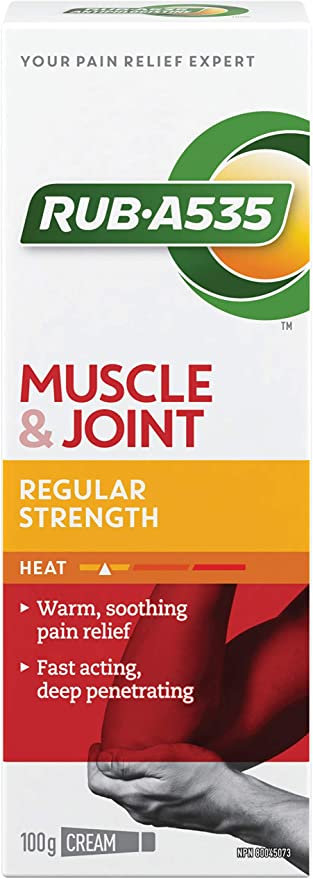Rub A535 Regular Strength Muscle & Joint Pain Relief Heat Cream - 100g - Simpsons Pharmacy