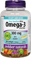 Webber Naturals Omega-3 300mg Easy Swallow Mini - 220 Softgels - Simpsons Pharmacy