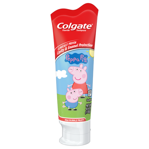 Colgate Kids Cavity Protection Toothpaste - Mild Bubble Fruit Peppa Pig 75mL - Simpsons Pharmacy