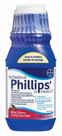 Phillips' Milk of Magnesia Wild Cherry Flavour - 350mL - Simpsons Pharmacy