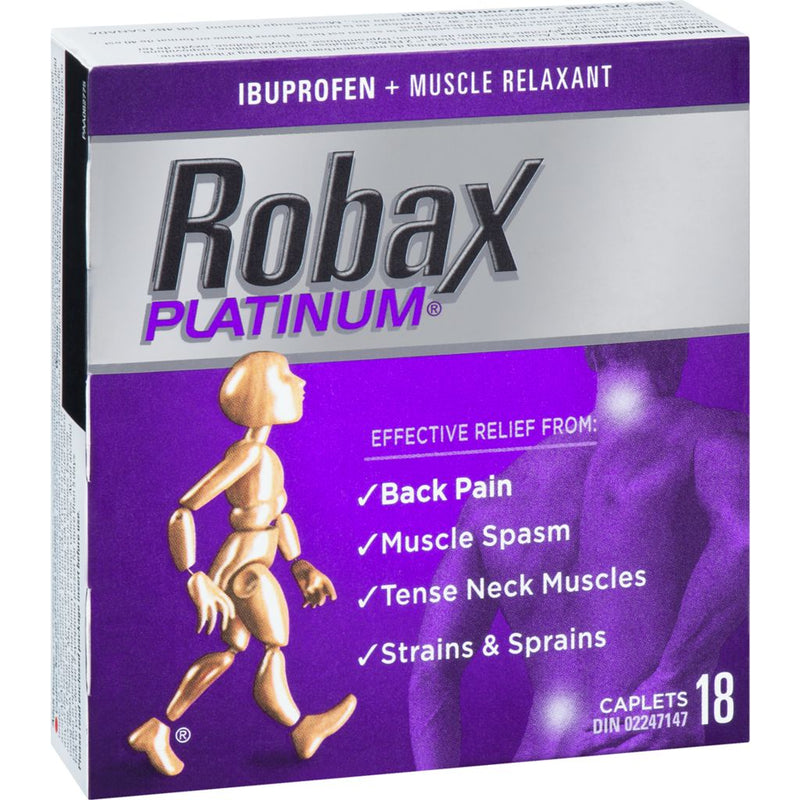 Robax Platinum Back & Muscle Pain Relief - 18 Caplets - Simpsons Pharmacy