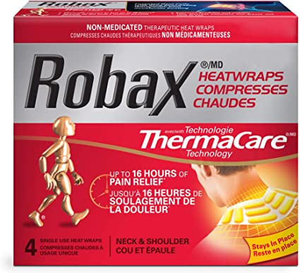 Robax Thermacare Heatwraps Neck & Shoulder Pain Relief - 4 Heat Wraps - Simpsons Pharmacy