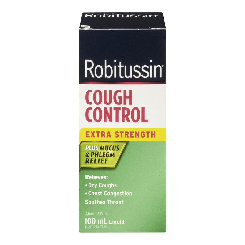 Robitussin Extra Strength Cough Control Plus Mucus & Phlegm Relief Syrup - 100mL - Simpsons Pharmacy