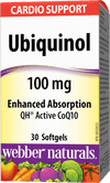 Webber Naturals Ubiquinol 100mg Enhanced Absorption QH Active CoQ10 - 30 Softgel Capsules - Simpsons Pharmacy