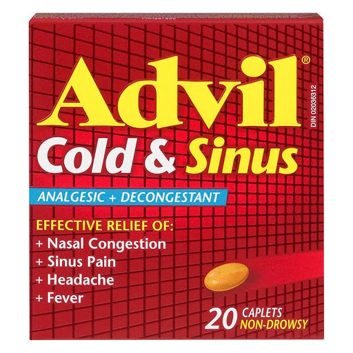 Advil Cold & Sinus Relief - 20 Caplets - Simpsons Pharmacy