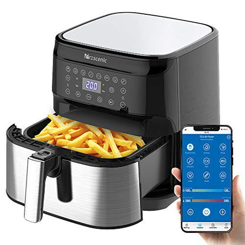 Image of BigJerk Smart Air Fryer, App & Alexa Control, XL 5. 8QT, 1700 Watt