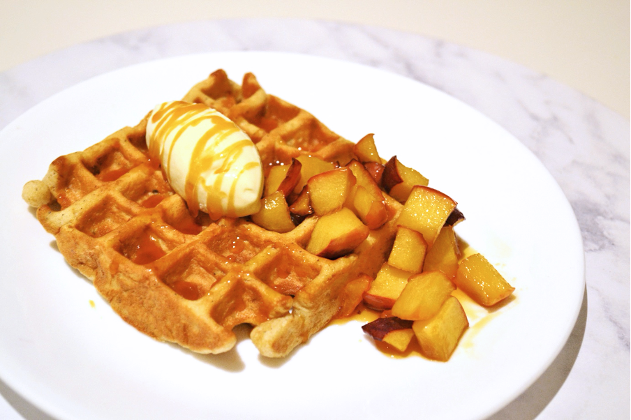 yesyoucan waffle apple caramelised gluten free recipe cinnamon muffin