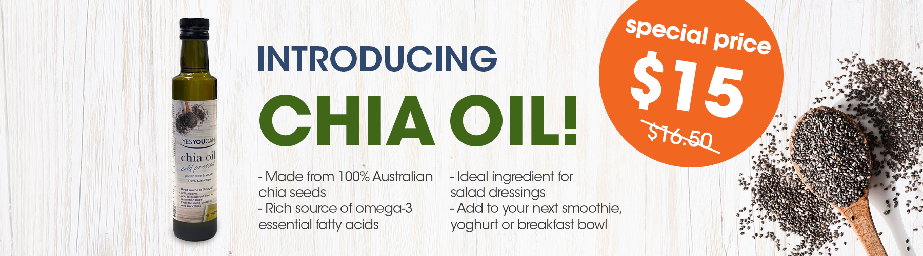 yesyoucan gluten free vegan chia oil seed cold pressed healthy