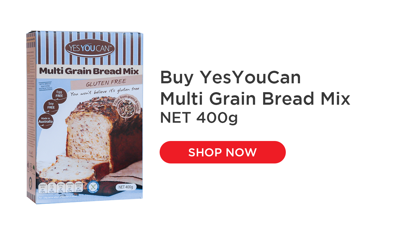 yesyoucan multi grain bread mix vegetarian baking gluten free