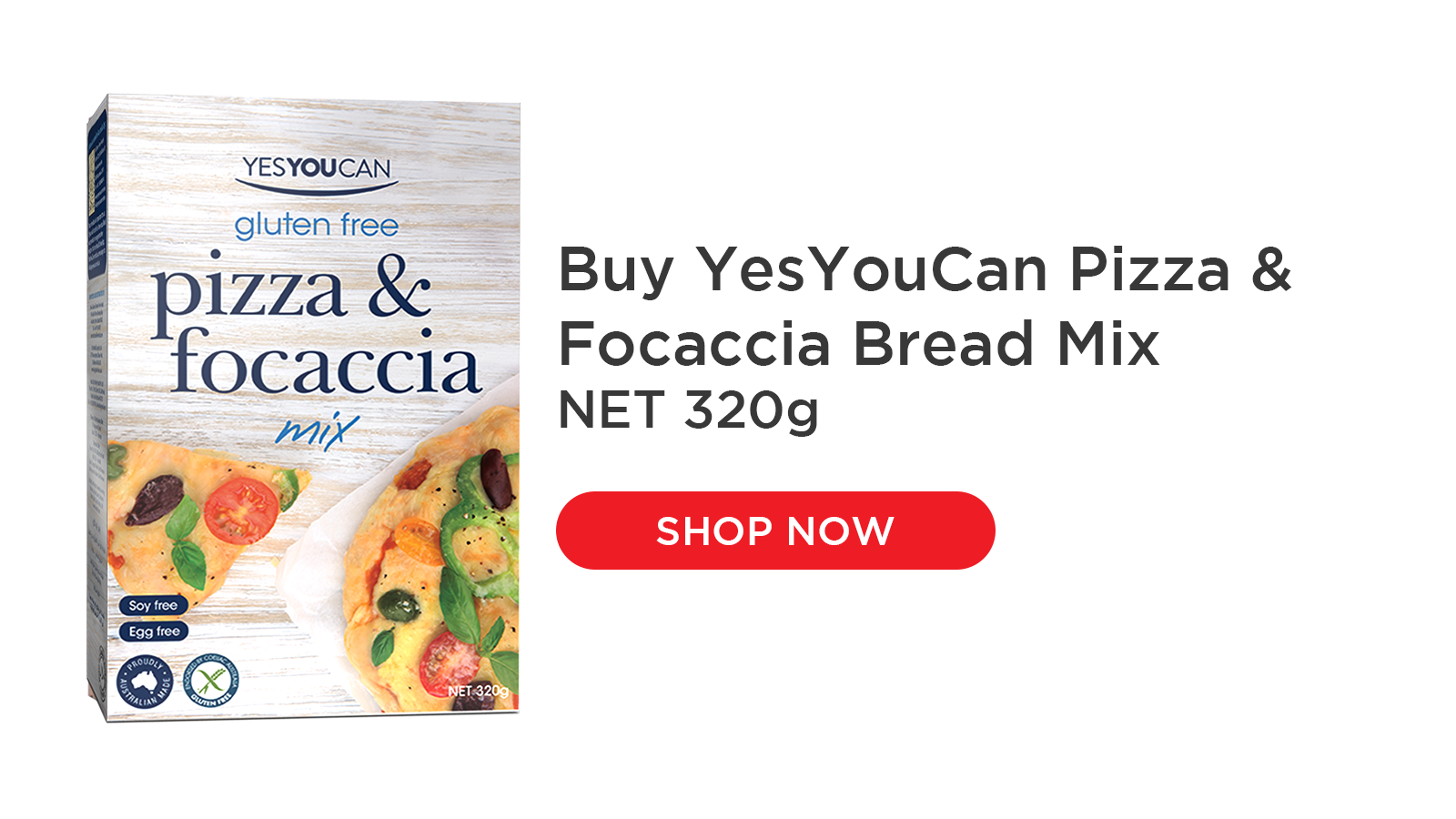 Use YesYouCan Pizza Mix to make fantastic tasting pizza bases to your preference, either thin and crispy or a thicker base. This carefully crafted mix delivers authentic taste and texture for delicious pizzas, just add your favourite toppings. Versatile mix for focaccia or other flat breads.