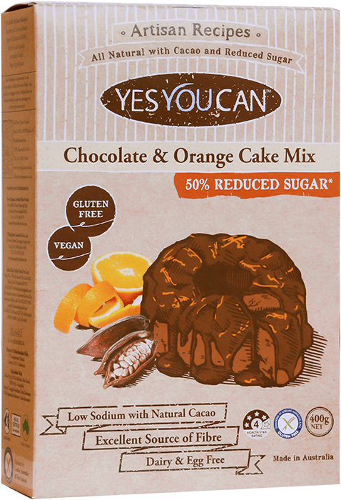 Chocolate and Orange Zest Cake Mix