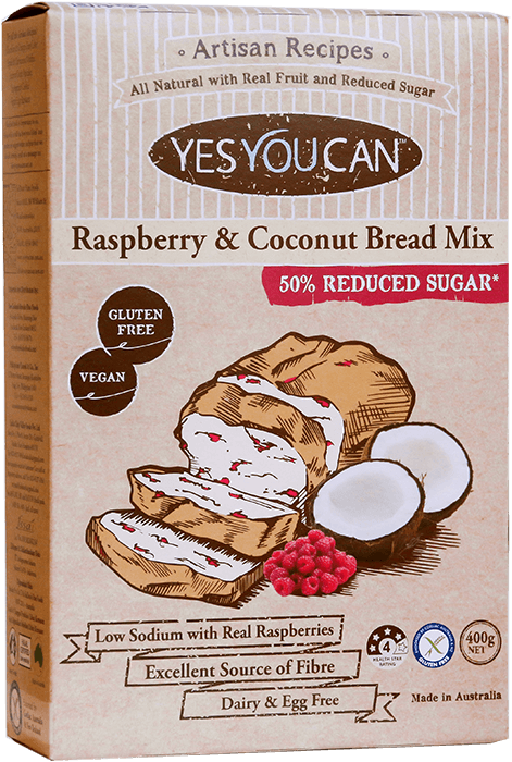Raspberry and Coconut Bread Mix
