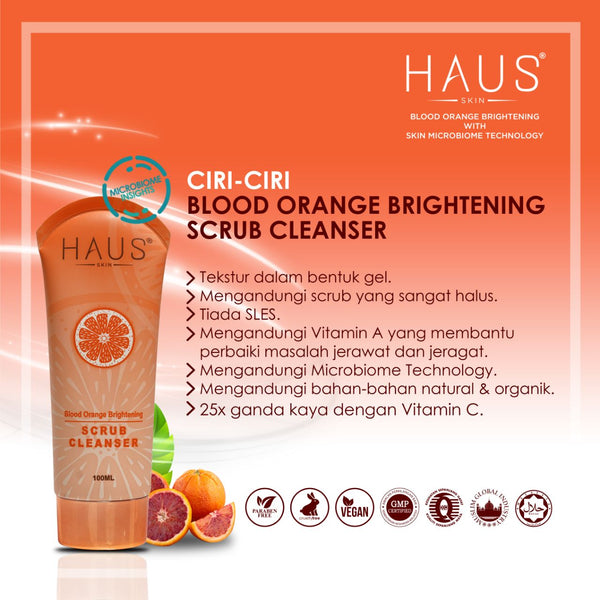 BLOOD ORANGE BRIGHTENING SCRUB CLEANSER (100ml)