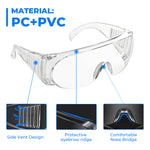 Foldable Dustproof Goggles Wide Vision Splash Goggles