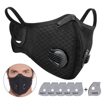 PM2.5 Sports Face Mask Protective With 6 Filters