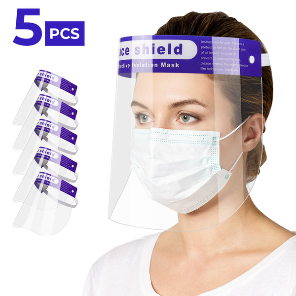 Reusable Face Shield Mask Full Face Protection Anti Dust Fog - 3/5/10PCS