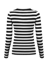 Load image into Gallery viewer, Pullover Leonie striped with v-neck