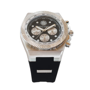 Jimmys Secret Silver Chronograph top