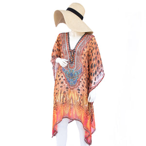 Jimmys Secret Tunika Kaftan Ibiza Fashion magical print and luxurious applications