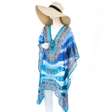 Laden Sie das Bild in den Galerie-Viewer, Jimmys Secret Tunika Kaftan Ibiza Fashion 12 front