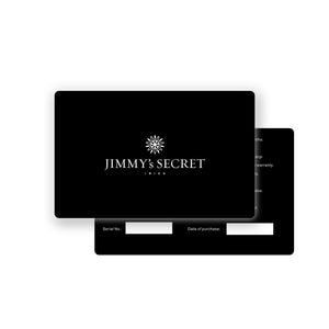 Jimmys Secret Watch Warranty Card black
