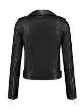 Load image into Gallery viewer, Biker Leather Jacket