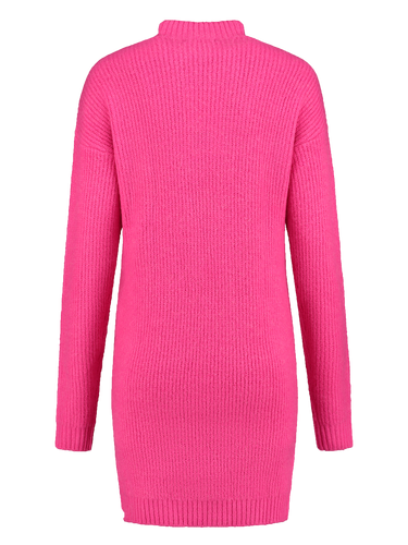Jimmys Secret Ibiza Dress pink long arms wool blend