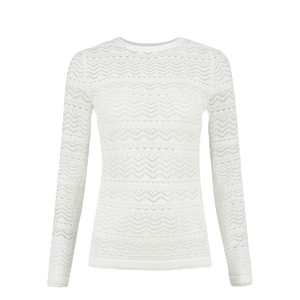 Knitted Lace-Pullover Jade